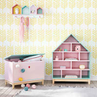 Child's Toy Chest in Pink Berlingot