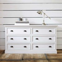 Commode en pin blanc L 160 cm Newport