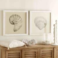 Coussin à pompons en coton blanc 45x45cm Mandala