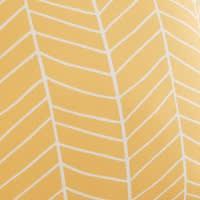 Coussin d'extérieur jaune motifs graphiques 45x45 Portofino