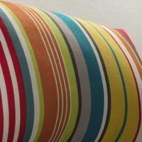 Coussin d'extérieur rayé multicolore 30x50 Capri
