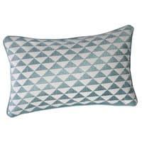 Coussin en coton bleu 30 x 50 cm Mix