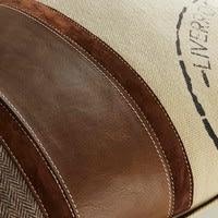 Coussin en coton et cuir de bison 40x60cm Livertweed
