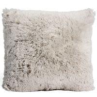 Coussin en fausse fourrure grise 45 x 45 cm Vancouver