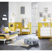 Cuscino giallo stampa bianca, 40x40 cm Easy