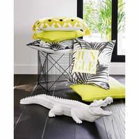 Cuscino nero e giallo in cotone 30x50cm Wilic