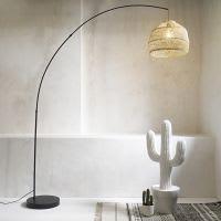 Déco cactus en résine blanche H 89 cm Agave