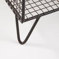 Dielenmöbel mit 2 Schubladen aus schwarzem Eisen und Mangoholz Michigan