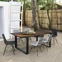 Gartentisch für 6 Personen aus Verbundmaterial und Aluminium, L200 Comores