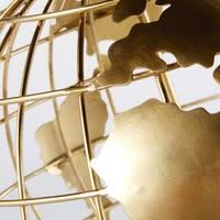 Globe mappemonde en métal doré et noir Elvis