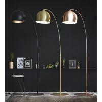 Gold metal floor lamp H 206 cm Gold Sphere