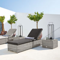 Grey Resin Wicker Sun Lounger Cape Town