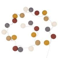 Guirnalda de luces de 24 LEDS de algodón multicolor Nordik