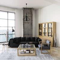 Katoenen vloerkleed, grijs, 200 x 290 cm, Feel