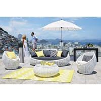 Kissen für Outdoor schwarz/weiß 30x50 Talaia