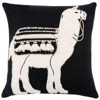 Kissenbezug aus Baumwolle, bedruckt mit Lamamotiv 40x40
