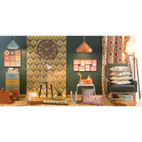 Kleines Möbel mit 4 bunten Schubladen Market