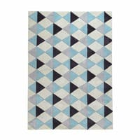 Kurzflorteppich , blau, 160x230 Nordic