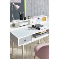 Lampe de bureau en métal rose H 38 cm Pix