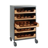 Mango Wood and Grey Metal Bottle Rack Danny