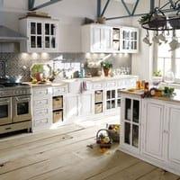 Mango Wood Kitchen Sink Unit in Ivory Eleonore kitchen