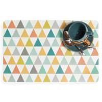 Mantel individual con motivos triangulares de colores Vintage