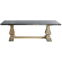 Mesa de comedor de metal y madera reciclada 10 personas L.240 ...