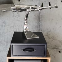 Metal aeroplane decoration 31 x 50cm