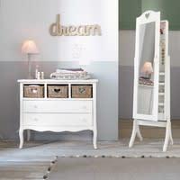 Miroir psyché avec rangement blanc 42x160 Valentine