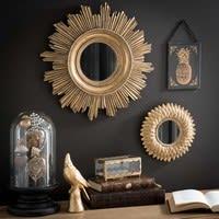 Miroir rond doré H 22 cm Montauk