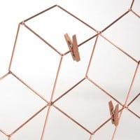 metal photo memo board 48 x 64 cm Modern Copper