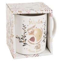 Mug renard en porcelaine blanche  Fox