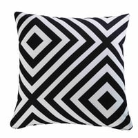 Garden Cushion with Black and White Geometric Motifs 45x45 Nahira