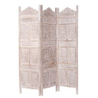 Paravent en manguier blanchi L 150 cm Udaipur