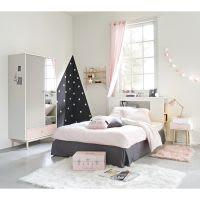 Parure da letto grigia e rosa in cotone 140x200cm Joy