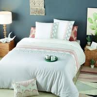 Parure da letto in cotone a motivi grafici, 220x240