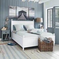Parure de lit 220 x 240 cm en coton blanche Océan