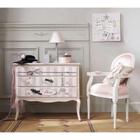 Pêle-mêle photo en toile rose 45 x 45 cm Pastel
