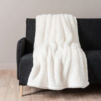 Plaid ecru in simil pelliccia 150 x 200 cm Câlin