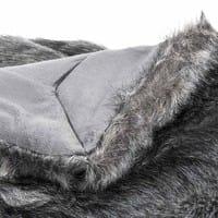 Plaid en fausse fourrure noir 150 x 180 cm Scaffel