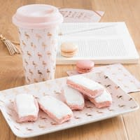 Plat en porcelaine rose Flamingo
