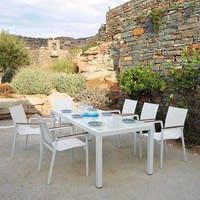 Poltrona bianca da giardino in alluminio Antalya