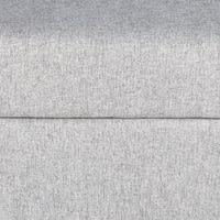 Puf-baúl de algodón gris Lena