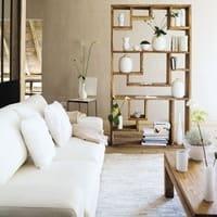 Solid Sheesham Wood Shelf Unit Stockholm
