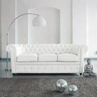 chrome finish metal and plastic floor lamp in white H 209cm Sphère