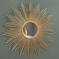 Spiegel van goudkleurig metaal D99 Magellan