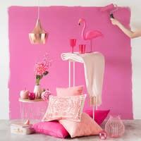 Statue flamant rose en plastique rose H 54 cm Flamingo