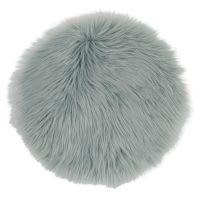 Stoelkussen van grijsblauwe imitatiebont Lapon