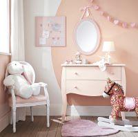 Stoffhase , H 40 cm, weiß/rosa Bunny
