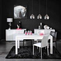 Stuhl aus Lederfaserstoff, weiß Klint